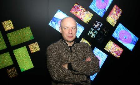 Brian Eno's non-conformist philosophy became a bit of a FutureBook mantra. Photo by Jeremy Selwyn/Evening Standard /REX (936420a)