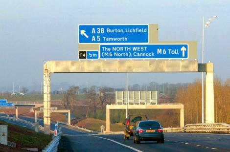 2.5 million Mills & Boon novels were used to build the M6 Toll Road (Image Phil Hill/REX)