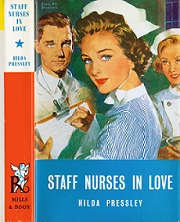 Staff Nurses in Love by Hilda E Pressley was published in 1962 as Volume 696 of the Harlequin Romance series (Image: Reading University Collections)